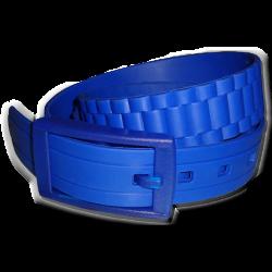 Malaabes Unisex Bubble Gum Blue Silicon Rubber Belt