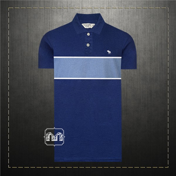 4f118117d Abercrombie & Fitch Men Navy Colorblock Striped Icon Polo Shirt With Small  Icon Deer Logo 2 Buttons Placket | Malaabes Online Shopping Store in Egypt  ...