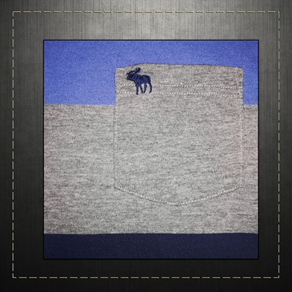 f84dd04e Abercrombie & Fitch ANF Men Colorblock Tank Top Navy Grey Sleeveless Pocket  Tee Icon Logo
