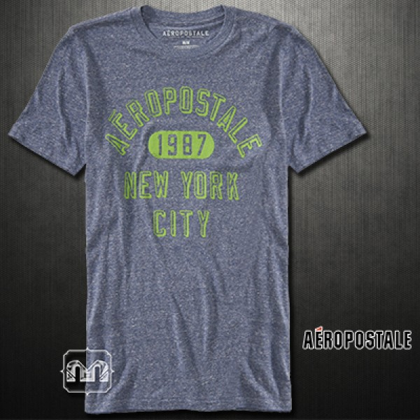 2275b23e ~Aeropostale 1987 NYC Logo Navy 410 Graphic Tshirt   Malaabes Online  Shopping Store in Egypt Promoting Original Mens Designer Clothing Brands