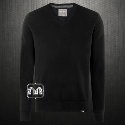 ~Aeropostale Solid Black Vneck Jumper Sweater