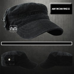 ~American Rag Black Cap With Side Pocket