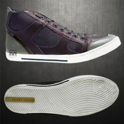 ~Antony Morato Brown Genuine Leather Hitop Sneaker Shoes