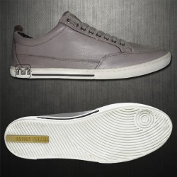 ~Antony Morato Grey Genuine Leather Lowtop Sneaker Shoes