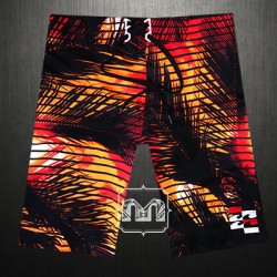 ~Billabong Surrider Black With Orange Printed Boardshort Swimwear