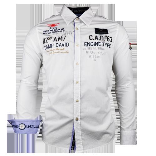 camp david white long sleeve shirt malaabes online. Black Bedroom Furniture Sets. Home Design Ideas
