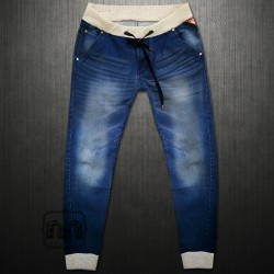 ~Cherokee Joggers Denim Jeans Pants With Elastic Waist & Bottoms