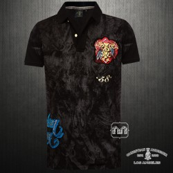~Christian Audigier American Dream VIF Speed Shop 58 Black Polo