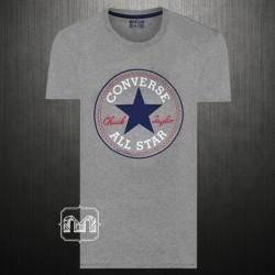 ~Converse Grey Crewneck Signature Graphic Printed Tshirt