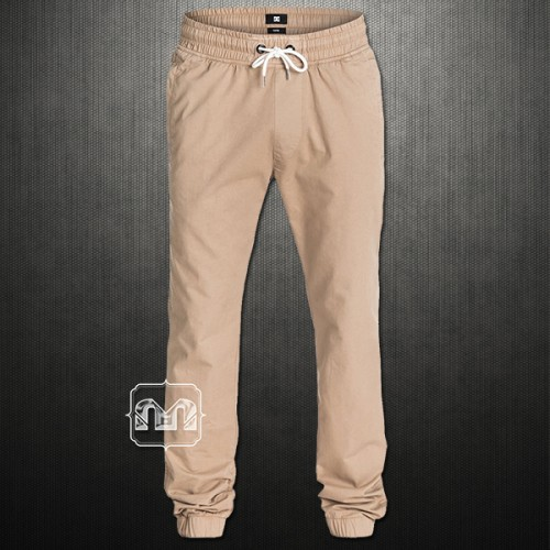 ~DC Shoes By Quiksilver Khaki Tapered Fit Men Hem Jogger Cuffed Skate Pants