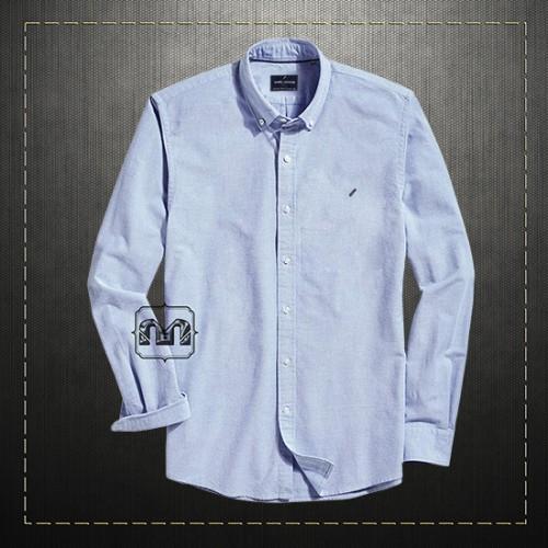 reputable site 9cb6c 14637 Daniel Hechter Men Solid Blue Casual Button Down Shirt ...