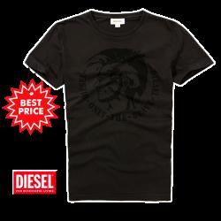~Diesel Velvet Only The Brave Dark Grey Printed Tshirt