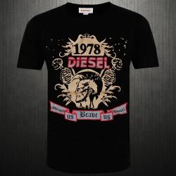 ~Diesel Crewneck Graphic Printed Black Tshirt