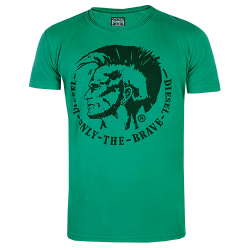 ~Diesel T-Achel Mohawk Green Printed Only The Brave Tshirt