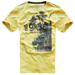 ~Esprit Yellow Printed Roundneck Tshirt 1968 Land Of The Sun