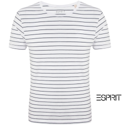 ~Esprit Short Sleeve Wide Oneck Striped TEE