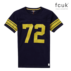 ~FCUK French Connection College Football Navy Tshirt 72
