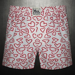 French Connection FCUK Big Red Hearts Printed Boxer Short