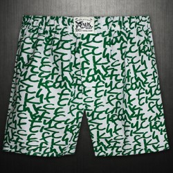 French Connection Dark Green Printed FCUK Boxer Short