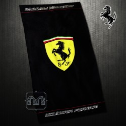~Ferrari Scuderia Ferrari Large Shield Logo Black Beach Towel
