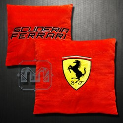 Ferrari Scuderia Ferrari Large Shield Red Throw Pillow Cushion