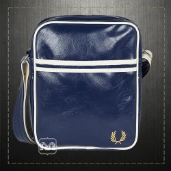 Fred Perry Men Navy Classic Faux Leather Side Bag PVC