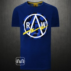 G Star Raw Lightning Graphic Print Logo Navy T-Shirt