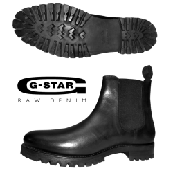 ~G Star Raw Zephyr Bennette Black Leather Boots