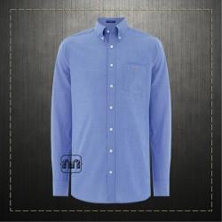 Gant Men Slim Fit Tech Prep Stretch Blue Shirt Button Down Collar