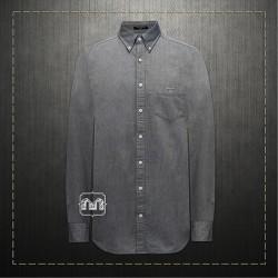Gant Men Slim Fit Tech Prep Stretch Grey Shirt Button Down Collar