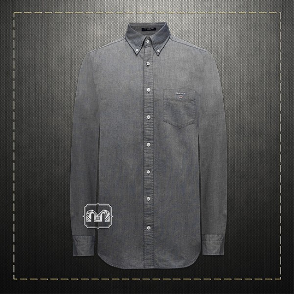 ae5e922aa7 ~Gant Men Slim Fit Tech Prep Stretch Grey Shirt Button Down Collar |  Malaabes Online Shopping Store in Egypt Promoting Original Mens Designer  Clothing ...