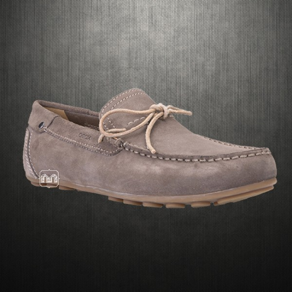 Geox Men Dove Grey Giona Suede Leather