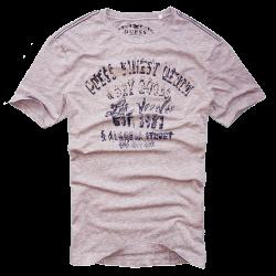 ~Light Grey Guess Finest Denim & Dry Goods Tshirt