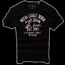 ~Guess Finest Denim & Dry Goods Printed Black Tshirt