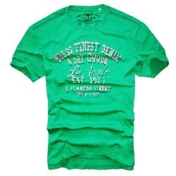 ~Guess Finest Denim & Dry Goods Printed Green Tshirt