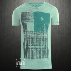 ~Guess Punching Tee Printed Tshirt In Green