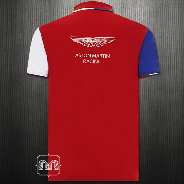 hackett london aston martin racing polo tshirt red blue. Black Bedroom Furniture Sets. Home Design Ideas