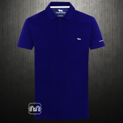 ~Harmont & Blaine Navy Pique Polo Shirt With White Chest Logo Embroidery & Branding On Arm