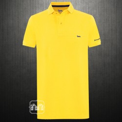 ~Harmont & Blaine Yellow Pique Polo Shirt With Chest Logo Embroidery & Branding On Arm