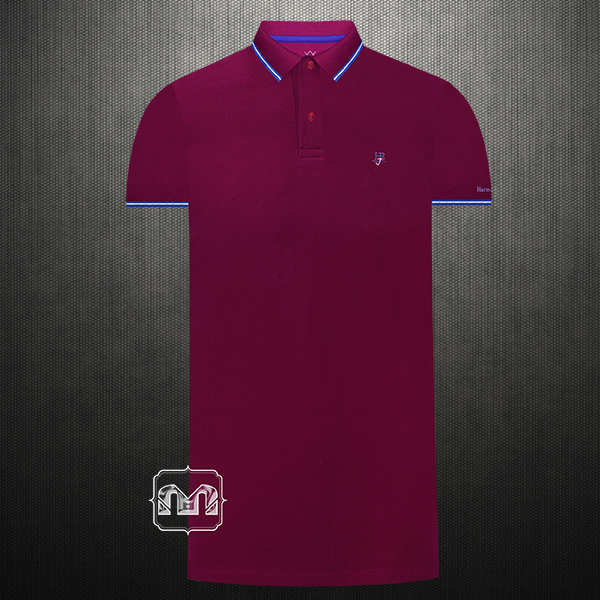 cdd20c1e2e ~Harmont & Blaine Jeans Dark Purple Pique Tipped Polo Shirt With HBJ Chest  Logo Embroidery & Tipped Collar | Malaabes Online Shopping Store in Egypt  ...