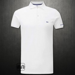 ~Harmont & Blaine White Pique Polo Shirt With Chest Logo Embroidery & Branding On Arm