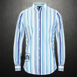 ~INC International Concepts Men Striped Button Down Collar Shirt French Cuffs