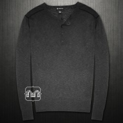 ~INC International Concepts Henley Buttoned Crewneck Sweatshirt