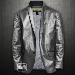 ~INC International Concepts Grey Mort Slim Fit Blazer Jacket