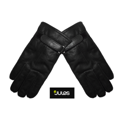 ~Jules Genuine Leather Black Gloves