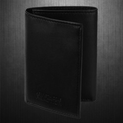 ~Kenneth Cole Reaction Richmond Trifold Black Leather Wallet Passcase