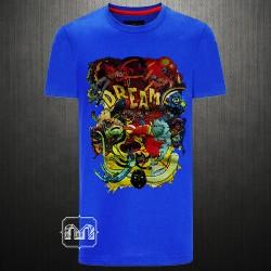 Killer Men Blue Roundneck Printed Dream Short Sleeves Tshirt