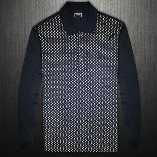 016e797cdebfe Lacoste Black Label Navy Full Sleeve Polo Shirt Front Pattern ...