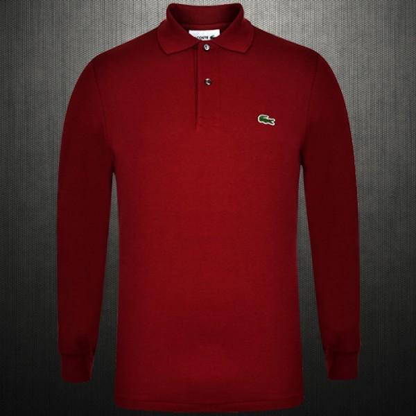 1529d0eaf ~Lacoste Maroon Full Sleeve Classic Polo