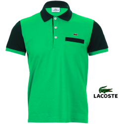 ~Lacoste Slim Fit  Two Tones Mint Green Color Polo